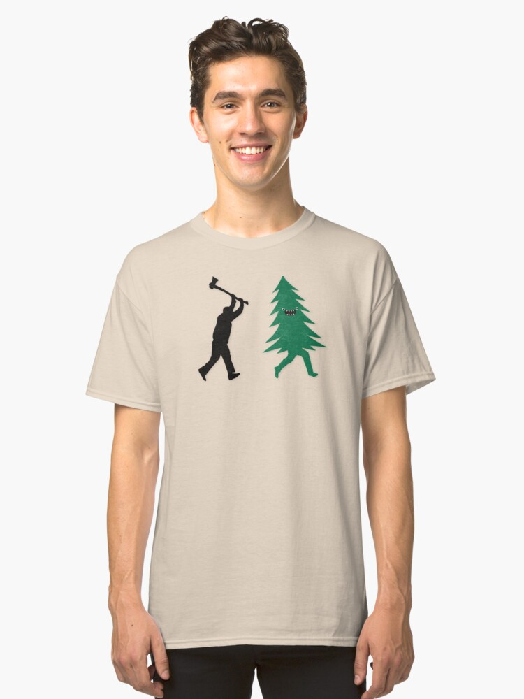 2097f7f0a Funny Christmas Tree Hunted by lumberjack (Funny Humor)