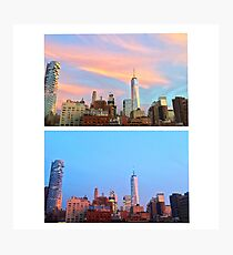 NYC Sunsets (2 days apart) - July 2016 Photographic Print