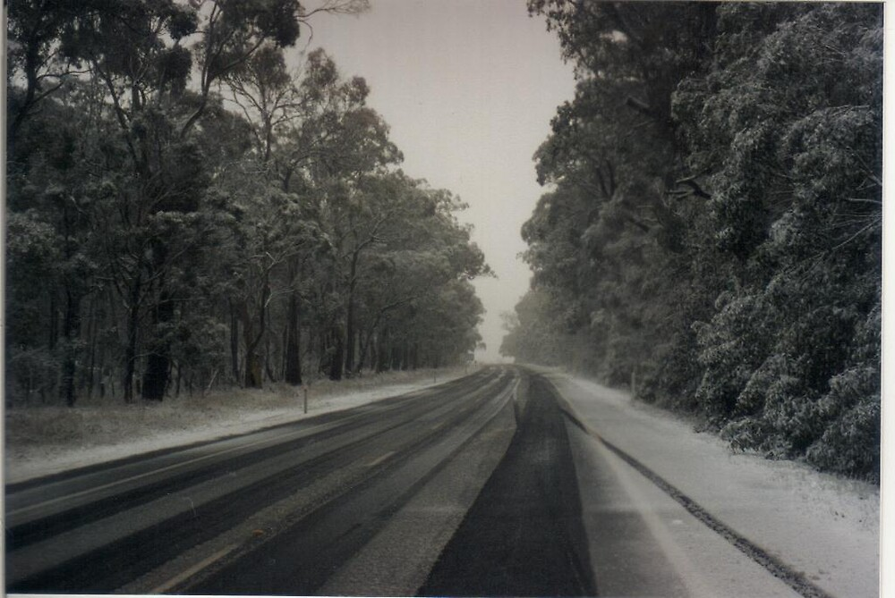 Snow on the Road by Judy Woodman