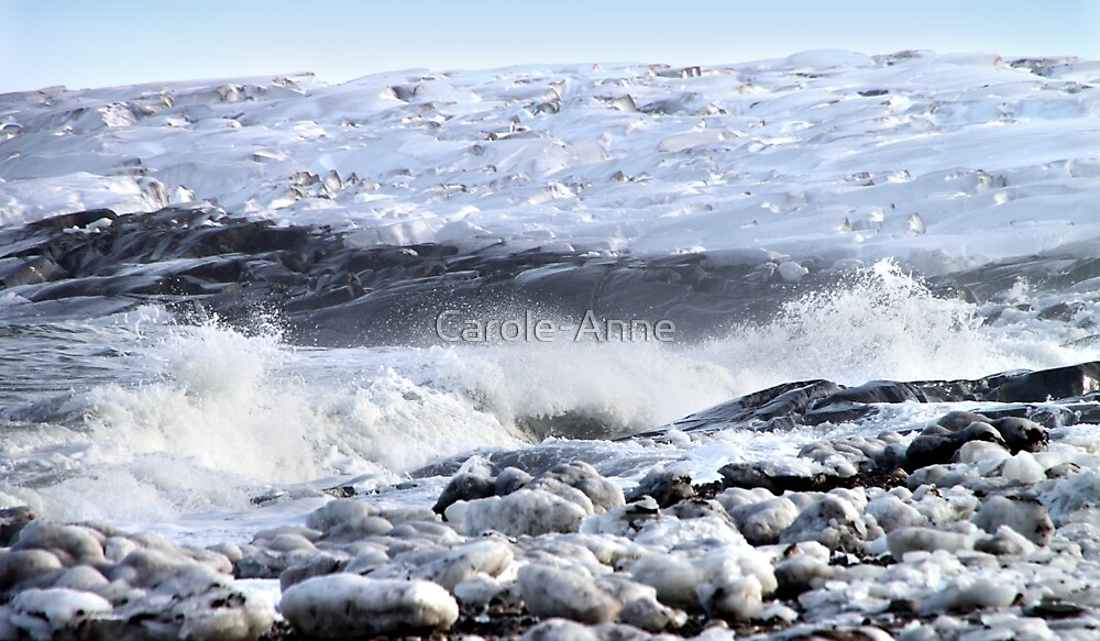 Breakers on the Shore by Carole-Anne