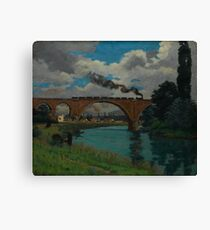 Railroad Bridge over the Marne at Joinville Armand Guillaumin Canvas Print