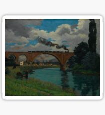 Railroad Bridge over the Marne at Joinville Armand Guillaumin Sticker