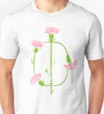 Watercolor Carnation Phi Symbol T-Shirt