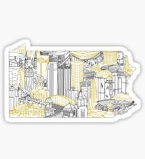 Pittsburgh Skyline Art Sticker