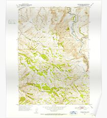 USGS TOPO Map Idaho ID Higham Peak 236494 1951 24000 Poster