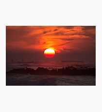 Jetty Sunset Photographic Print