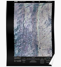 USGS TOPO Map Idaho ID Hershey Point 20110125 TM Inverted Poster