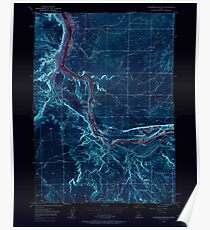 USGS TOPO Map Idaho ID Thousand Springs 238486 1949 24000 Inverted Poster