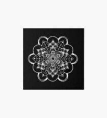 Dahlia Mandala - White Print Art Board