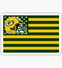 Green Bay Packer Flag Sticker