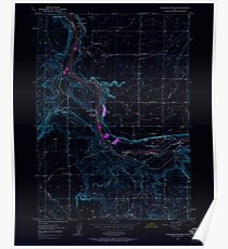 USGS TOPO Map Idaho ID Thousand Springs 238487 1949 24000 Inverted Poster