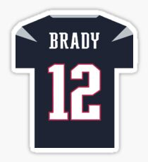 Tom Brady Jersey Sticker