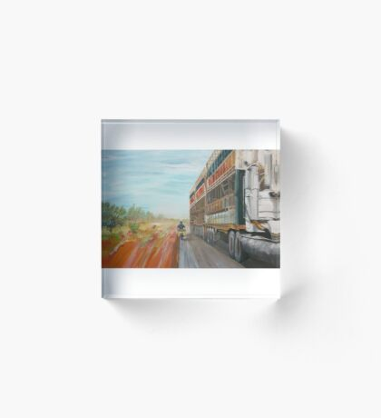 The Camooweal Track - Cattle Truck Acrylic Block