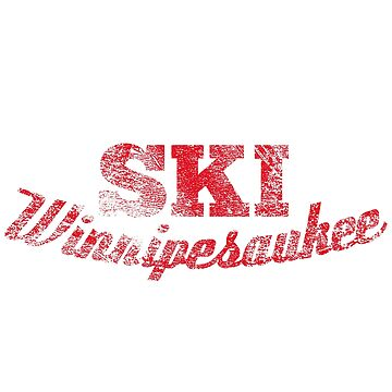 Lake Winnipesaukee Waterskier T-Shirt  by HoodieWoodie