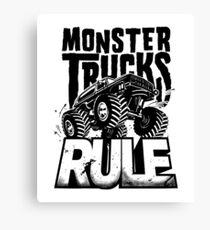 MONSTER TRUCKS RULE Canvas Print