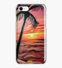 Palm Tree Over The Sunset iPhone Case/Skin