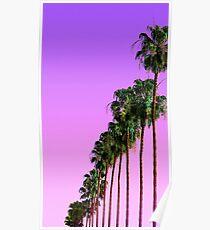 Palm Tree Purple Sunset Poster