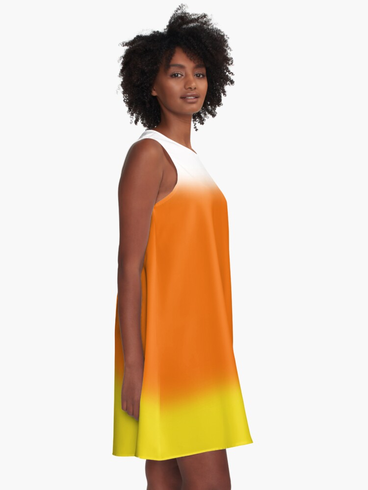 Alternate view of Candy Corn Ombre A-Line Dress
