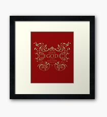 Love God Love Each Other Matthew 22 36 40 Gold Leaf Framed Print