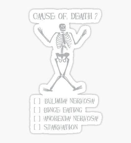 Cause of death? Sticker