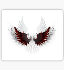 Stylized patterned black wings Sticker