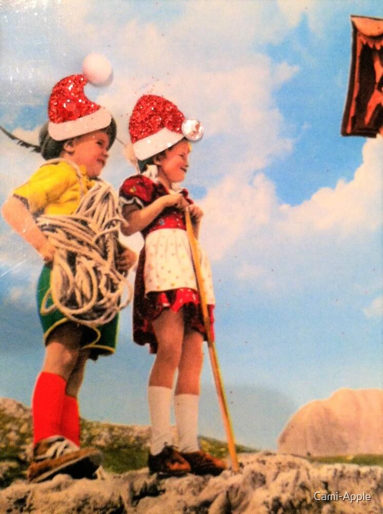 Joyeux Noel Apple.Joyeux Noel Santa Enfants En Europe Yodel Ho Ho Ho Par