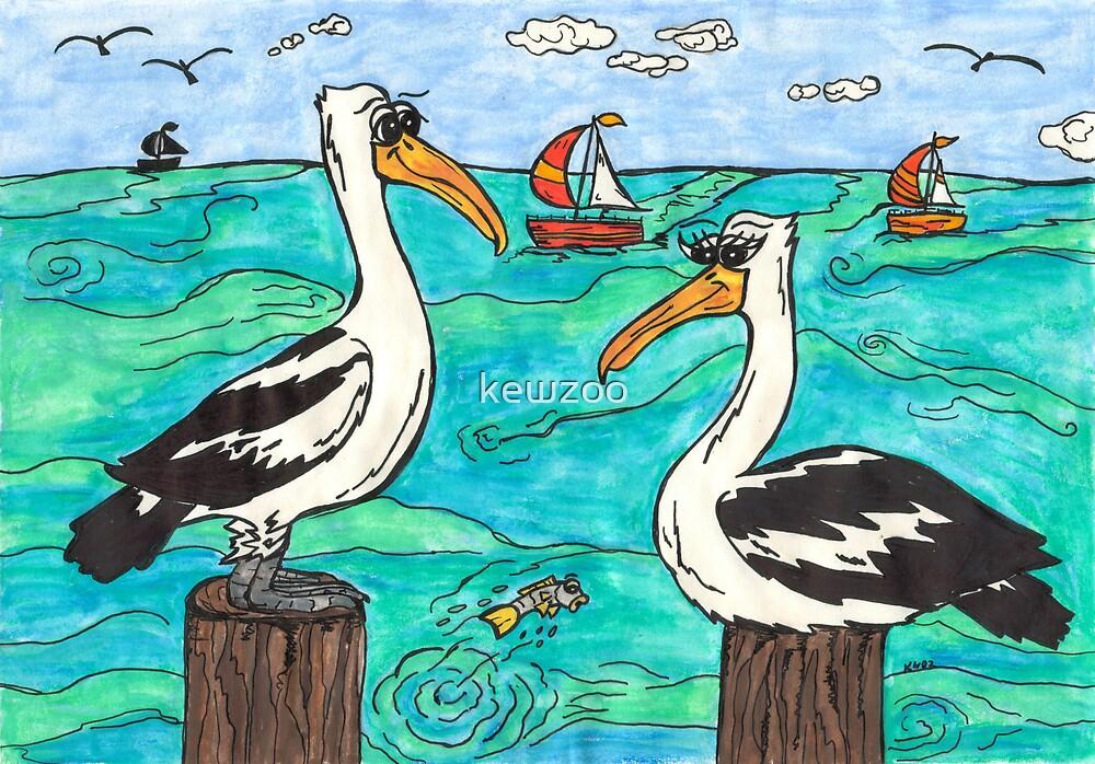 Pelicans by kewzoo