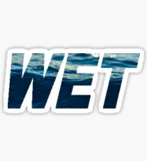 WET Sticker