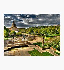 Legislature Grounds in HDR Photographic Print