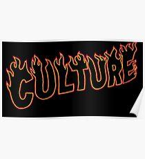 Migos Culture Fire Logo 1 Poster