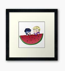 Watermelon Cuties Framed Print