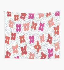 Celebration Flowers and Polka Dots Wall Tapestry
