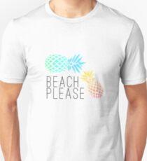 "Summer ""Beach please"" pineapple design T-Shirt"
