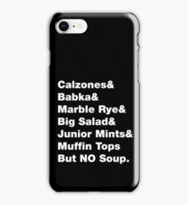 Seinfeld Foods - but No Soup! iPhone Case/Skin