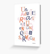 Un adulte créatif... Greeting Card