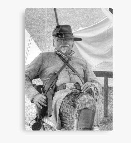 Portrait of a Rebel Officer Metal Print