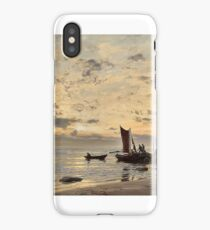 Amaldus Clarin Nielsen (1838-1932), Beach side, Nærland, after rain iPhone Case/Skin