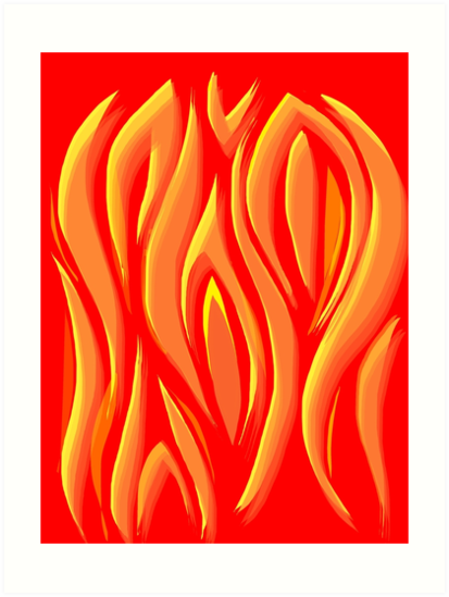 Flame Brocade by Elizabeth Sheppard