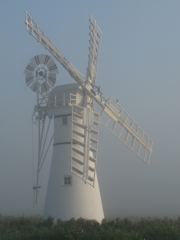 Windmill in the Mist by Mike Paget