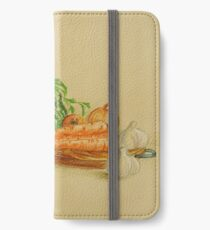Still life with carrots and onions iPhone Wallet/Case/Skin