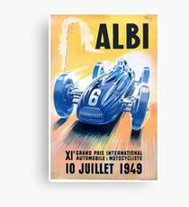 1949 Albi Grand Prix Automobile Race Poster Canvas Print