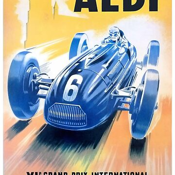1949 Albi Grand Prix Automobile Race Poster by retrographics