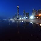 Surfers Paradise In The Early Hours Of The Morning. Australia. by Ralph de Zilva