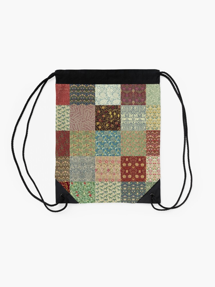 Alternate view of William Morris Pattern Collection Drawstring Bag