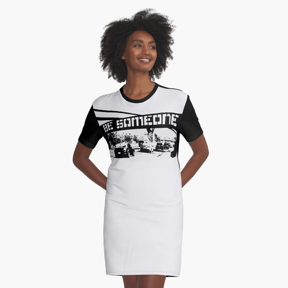Be Someone - Houston Graphic T-Shirt Dress
