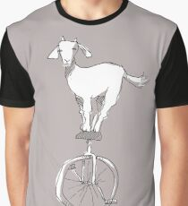 Goat on a unicycle Graphic T-Shirt