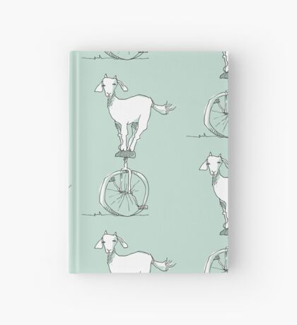 Goat on a unicycle Hardcover Journal