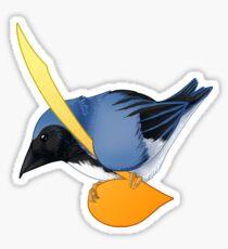 Musical Bird - Black Throated Blue Warbler Sticker
