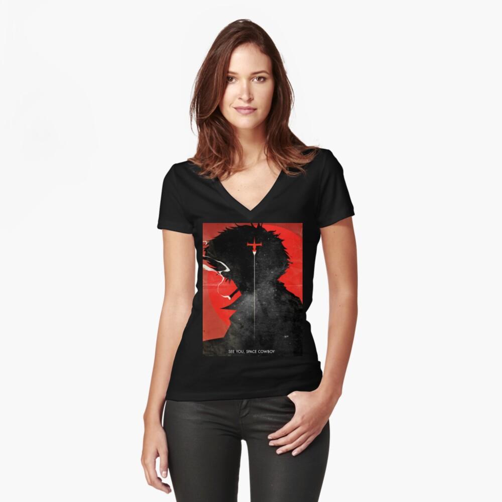 Wir sehen uns, Space Cowboy ver.distressed Shirt mit V-Ausschnitt