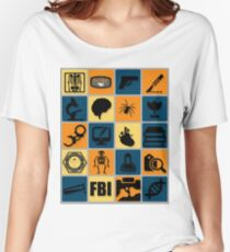 BONES TV Flat Icon Collage Women's Relaxed Fit T-Shirt